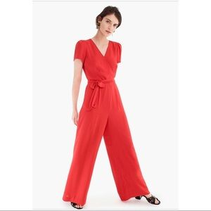 NWT Red J.Crew Jumpsuit